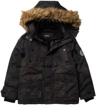 Diesel Parka Vestee Faux Fur Hooded Jacket (Big Boys)