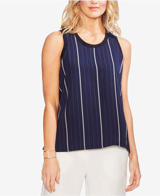 Vince Camuto Striped-Front Tank Top