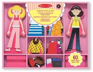 Melissa & Doug Boys Abby & Emma Magnetic Wooden Dress-Up Dolls