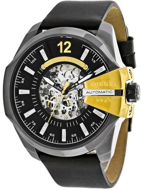 DieselDiesel Mega Chief DZ4379 Men's Round Brown Leather Watch