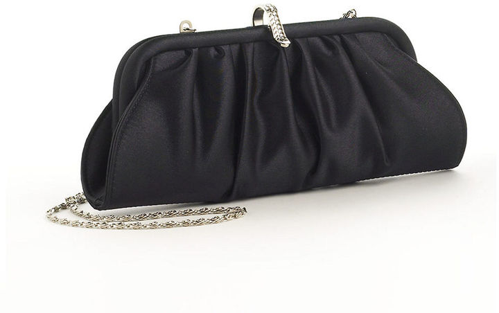 Carlo Fellini Pleated Satin Crossbody Clutch