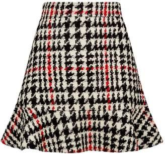 Valentino Tweed Check Mini Skirt