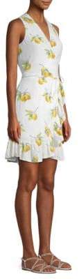 Rails Madison Lemons Tie-Front Wrap Dress