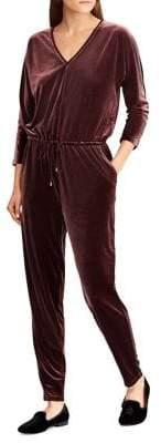 Lauren Ralph Lauren Velvet V-Neck Jumpsuit