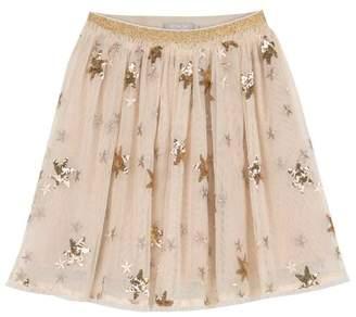 Mint Velvet Gold Sequin Star Tutu Skirt
