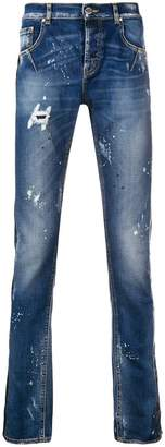 Les Hommes distressed skinny jeans