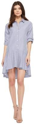 American Rose Kaia 3/4 Sleeve Button Up Dress Women's Dress