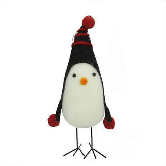 Asstd National Brand 8 Red and Black Felt Bird with Winter Hat Decorative Christmas Ornament