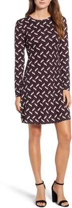 MICHAEL Michael Kors Chevron Print Fit & Flare Dress
