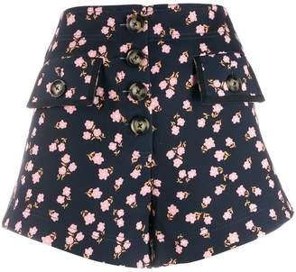 Self-Portrait floral print shorts
