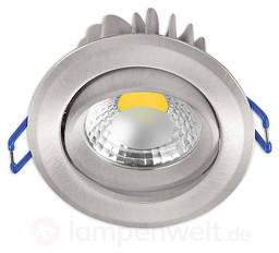Einbaustrahler Krone mit LED - nickel