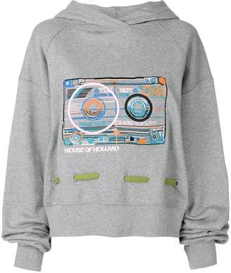 House of Holland cassette oversize hoodie