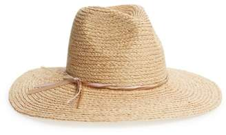 Sole Society Floral Embroidered Straw Sun Hat