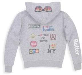 Butter Shoes Little Girl's& Girl's Embellished New York Hoodie