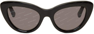 Balenciaga Black Logomania Cat Eye Sunglasses