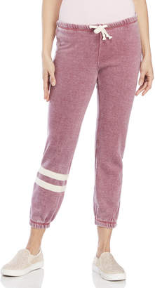 Ocean Drive Cropped Striped Leg Sweatpants
