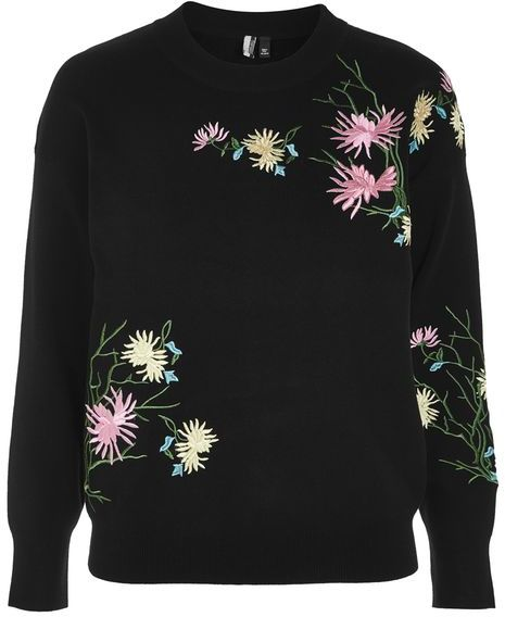 Topshop Topshop Floral embroidered sweatshirt