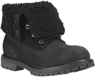 Timberland Authentics Teddy Fleece Waterproof Fold-Down Ankle Boots