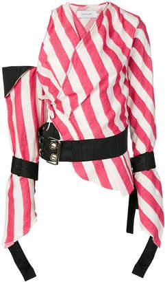 Marques Almeida Marques'almeida striped belted blouse