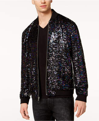 INC International Concepts I.n.c. Men's Sequin Bomber Jacket, Created for Macy's