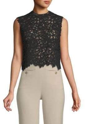 Valentino Floral Lace Cotton Top