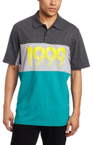 Rocawear Men's Short Sleeve Marled Stripe Polo