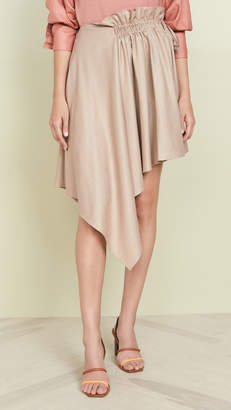 ADEAM Ruched Scarf Skirt