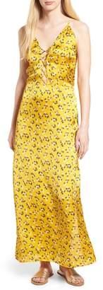 Billabong LOVE LIKE SUMMER X Floral Satin Maxi Dress