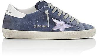 Golden Goose Women's Superstar Suede Sneakers - Blue