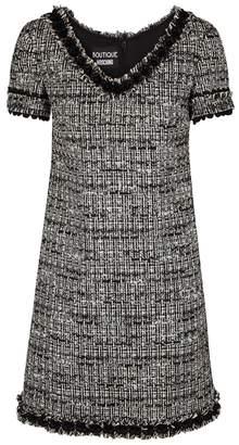 Moschino Grey Metallic Boucle-tweed Dress