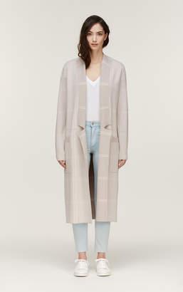 Soia & Kyo ANNABELLA-P maxi length coatigan with colour contrast
