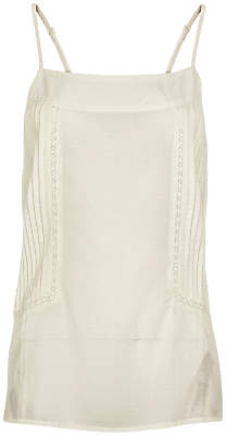 Fat Face Broderie Panel Camisole, Ivory