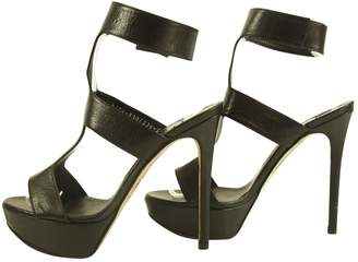 Gina Leather Sandals Stilleto Heels Size 5.5 Shoes W. Ankle Strap Hmzwrao2