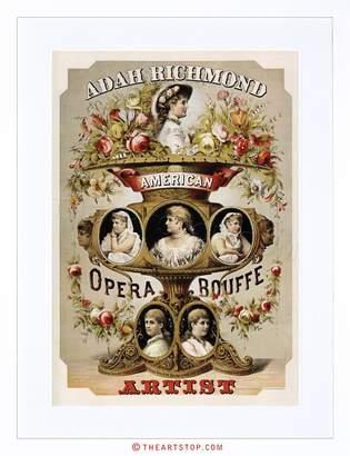 Richmond Wee Blue Coo Theatre Adah USA Flower Vintage Advert Retro Framed Art Print