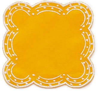 CABANA M'O Exclusive Set-Of-Four Flower Embroidered Coaster