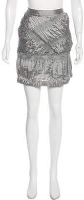 Burberry Textured Mini Skirt