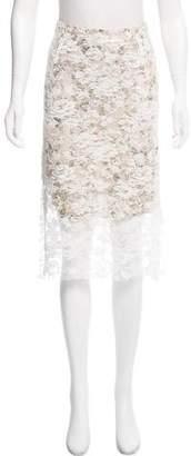 Preen by Thornton Bregazzi Preen Lace Overlay Knee-Length Skirt