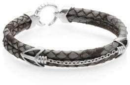 StingHD PythonHD Handcrafted High-End Braided Leather Bracelet