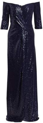 Rene Ruiz Collection Sequined Column Gown