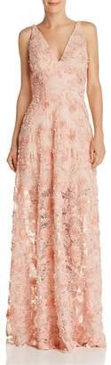 Avery G Floral Appliqué Gown - 100% Exclusive