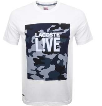 Lacoste Live Camouflage Logo T Shirt White