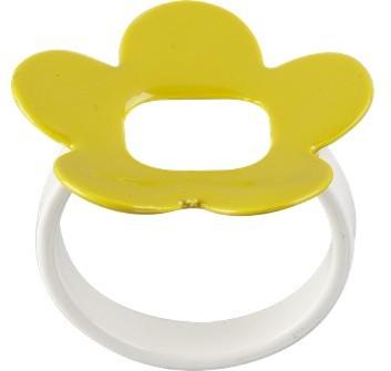 Enamel Flower Napkin Rings