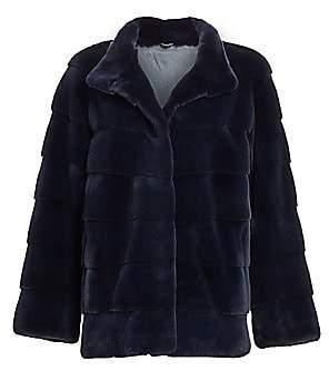 The Fur Salon Women's Plucked Mink Fur Jacket