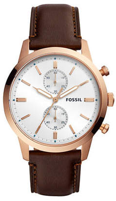 Fossil Townsman Chronograph Java Leather Watch