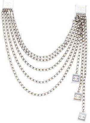 Chanel CC Mirrored Multistrand Collar Clips