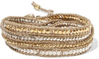 Chan Luu - Gold-plated Swarovski Crystal Wrap Bracelet - One size $295 thestylecure.com