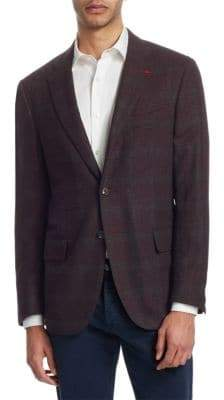 Isaia Plaid Cotton Sportcoat