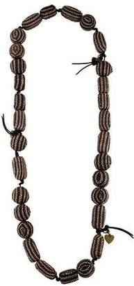 Saint Laurent Wicker Bead Necklace