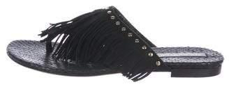 Tamara Mellon Snakeskin Thong Sandals