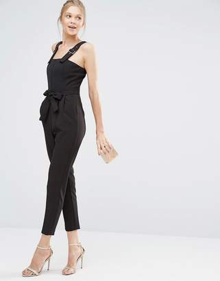 Oasis Tailored Belted Jumpsuit $98 thestylecure.com